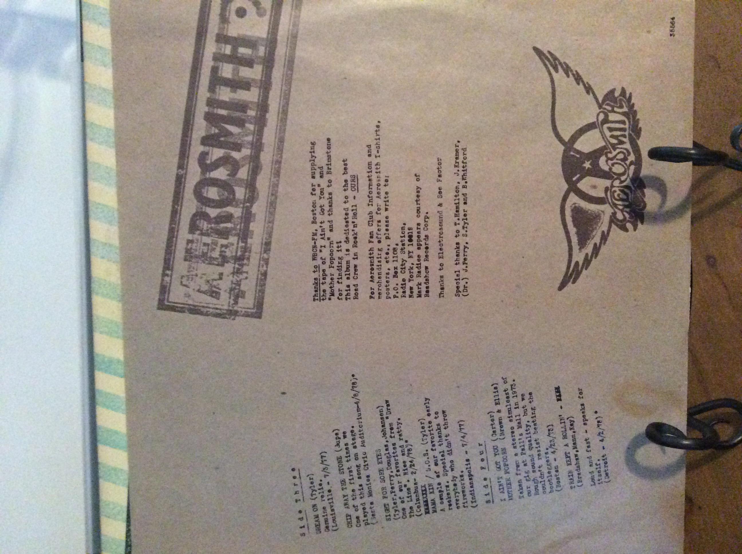 Aerosmith - Live Bootleg Double Live Album   Perfectenschlag